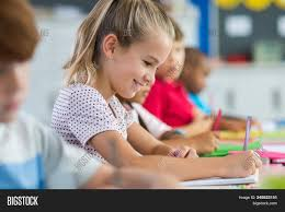 Smiling Scholar Girl Image & Photo (Free Trial) | Bigstock