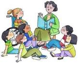 Image result for child being read to clipart free